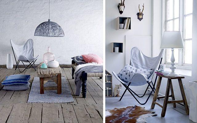 Decoración de interiores con la silla Butterfly