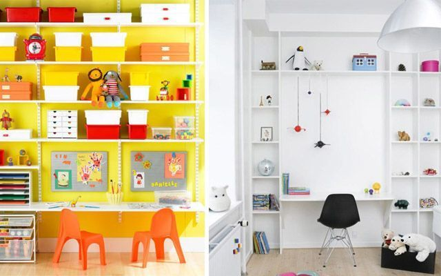 Ideas para decorar el espacio de trabajo infantil for Mesas de estudio para ninos