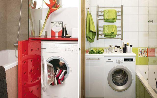 Lavadora dentro del ba o - Mueble para secadora ...