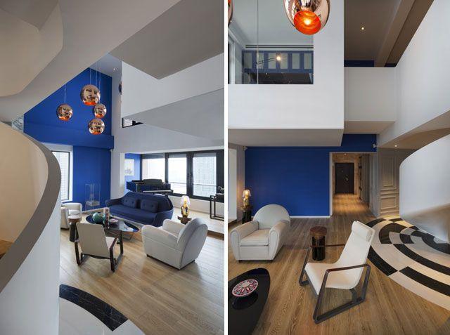Casas de diseño - El ático azul de Thomas Dariel