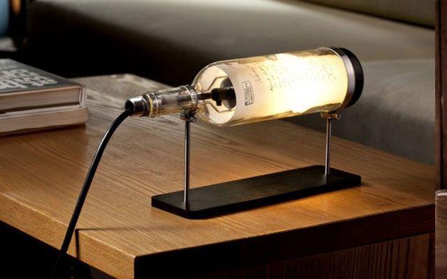 40 ideas para decorar con l mparas botella - Ideas para hacer lamparas ...