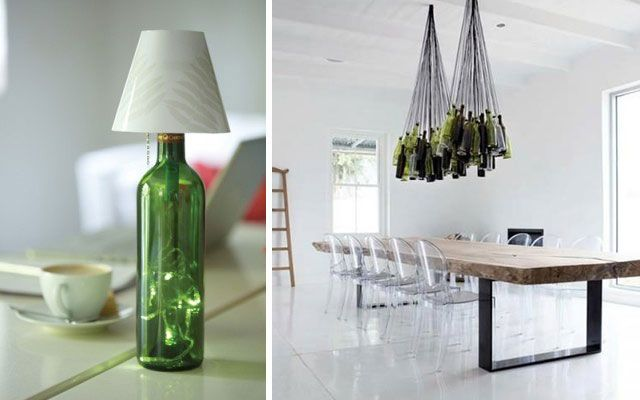 40 ideas para decorar con l mparas botella