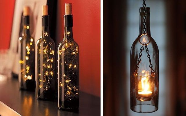 40 ideas para decorar con lámparas botella