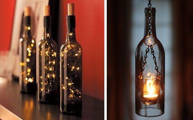 Decofilia blog 40 ideas para decorar con l mparas botella - Ideas para lamparas ...