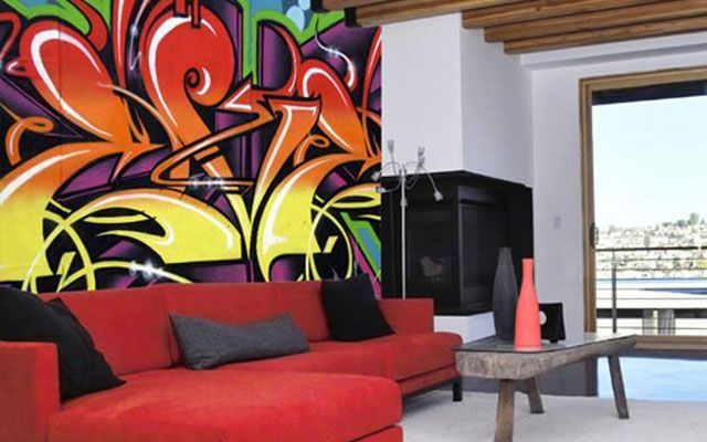 Decoración con graffitis