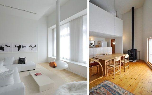 28 ideas para decorar el sal n con chimeneas modernas de - Decorar un salon con chimenea ...