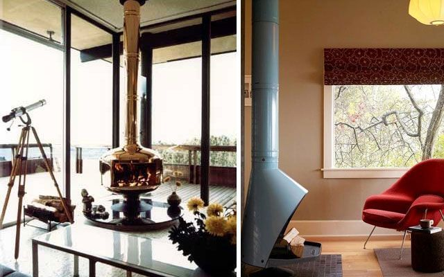 28 ideas para decorar el sal n con chimeneas modernas de - Decoracion salones con chimenea ...