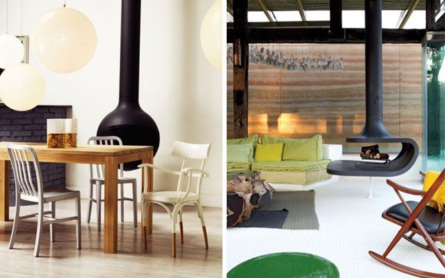 28 ideas para decorar el sal n con chimeneas modernas de Decoracion salones con chimenea