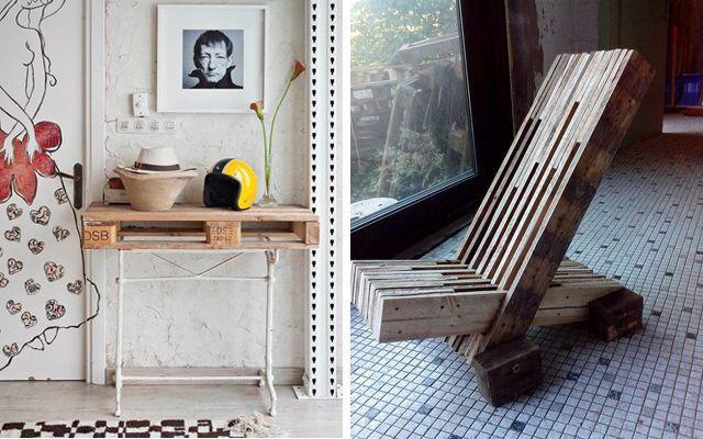 Ideas para decorar con pallets - Mobiliario y asientos