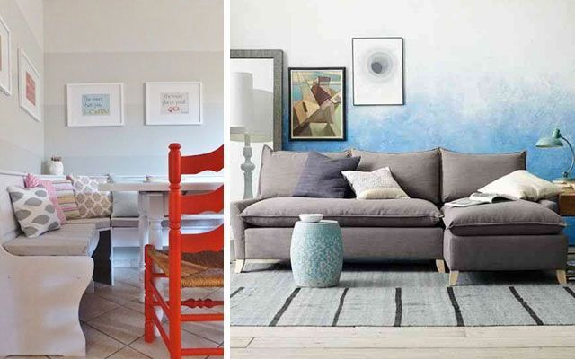 Ideas para decorar con pintura en degradado