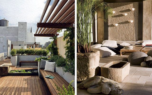 ideas para decorar terrazas y porches amplios