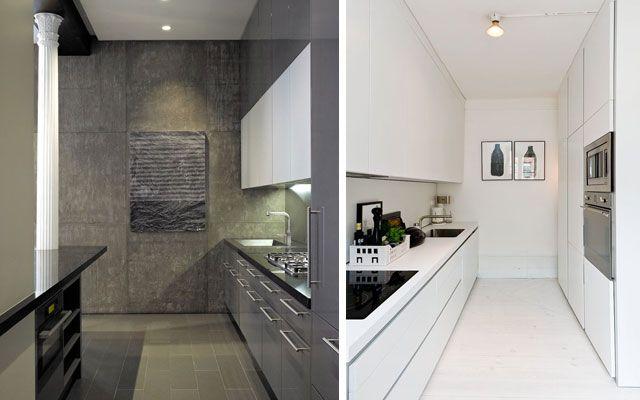 Distribución de cocinas en dos frentes