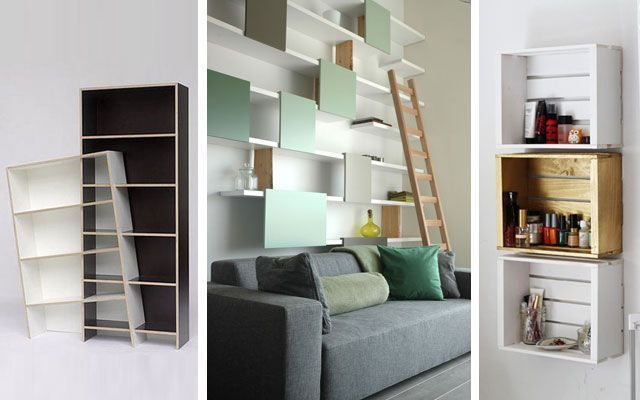50 ejemplos para decorar con estanter as originales modernas o curiosas - Estanterias modernas de pared ...