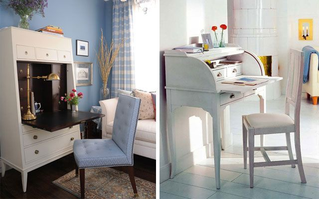 Ideas para decorar secreter moderno vs cl sico - Escritorios secreter ...