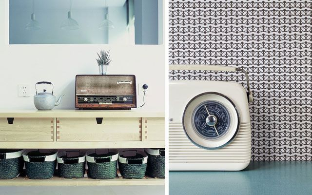 Decoración vintage y retro - Ideas para decorar con radios antiguas