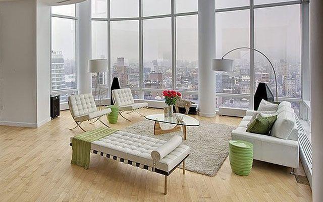Decoración de salones con el sillón Barcelona de Mies Van der Rohe