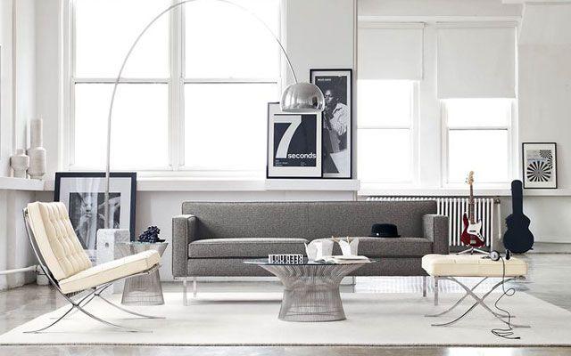 30 ejemplos de decoraci n de salones con el sill n barcelona - Houzz salones ...