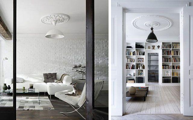 Ideas para decorar techos con molduras y rosetones clásicos