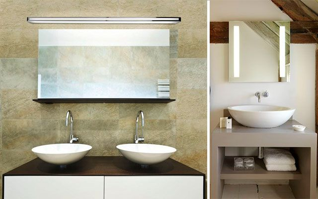 El ba o iluminaci n de espejos - Apliques de bano para espejos ...