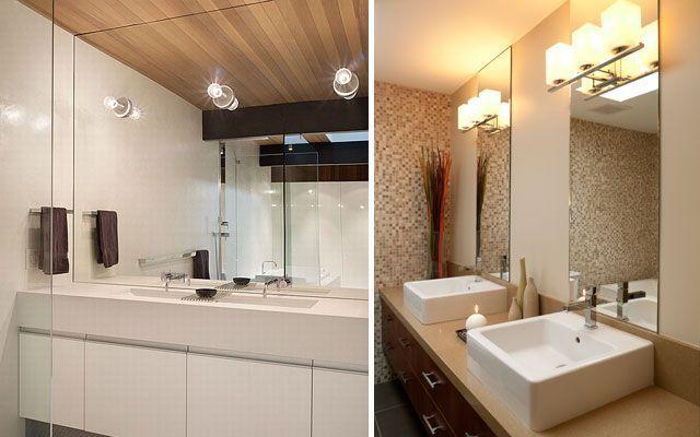 Iluminación de espejos de baño