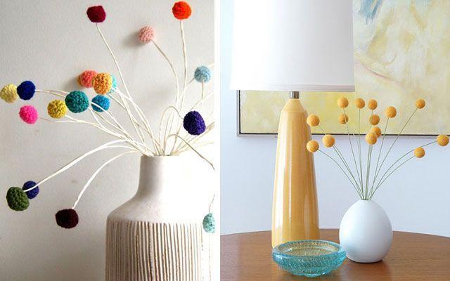ponponlu iç dekorasyon