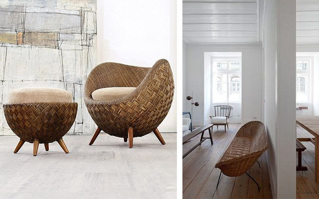 Ideas para decorar con mimbre y rat n for Sillones de ratan para jardin
