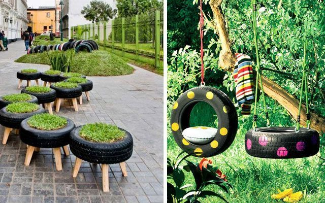 diy decorar con neumaticos - Decoracion De Jardin