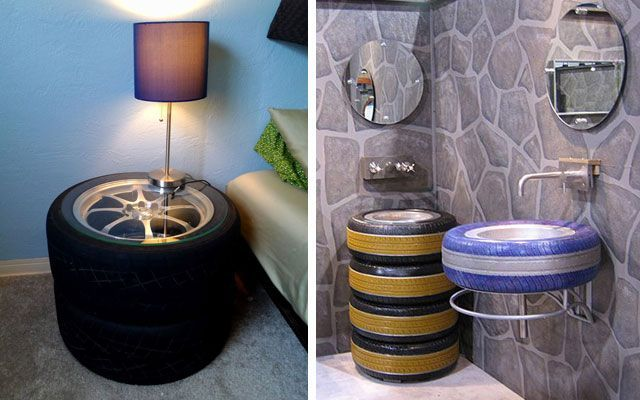 DIY decorar con neumaticos