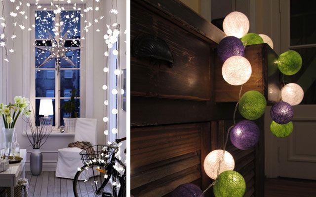 Ideas para decorar con guirnaldas luminosas - Ikea iluminacion led ...