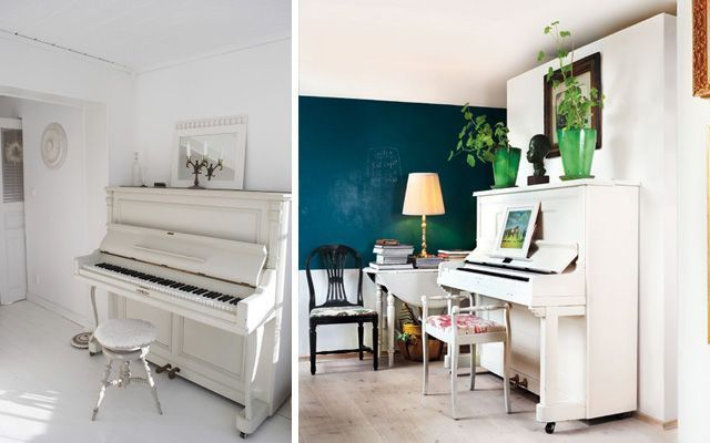 ideas para decorar con piano de pared