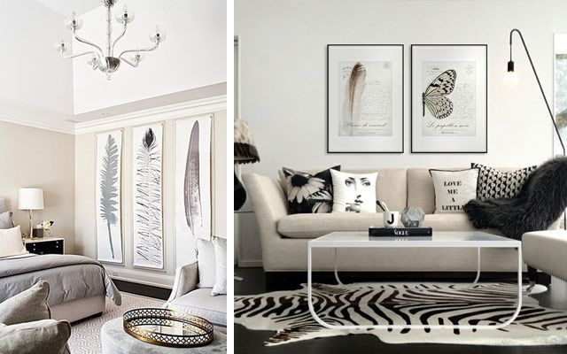 ideas para decorar con plumas