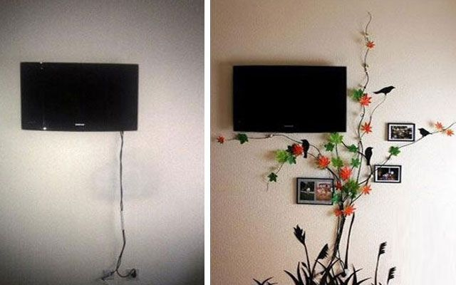 Como disimular un cable en la pared