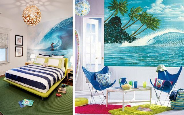 Ideas para decorar casas con tablas de surf