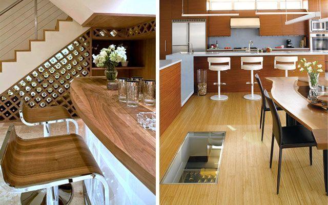 Decorar casas con bodegas domésticas