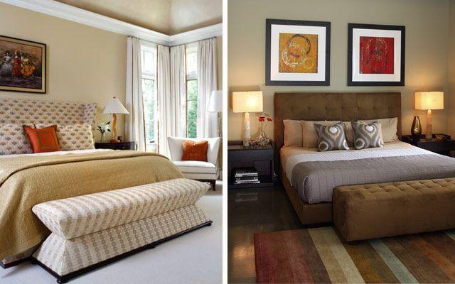 Un Banco A Pie De Cama Para La Decoración De Dormitorios