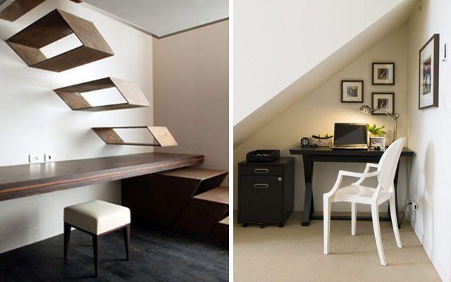 Cómo colocar el estudio bajo la escalera