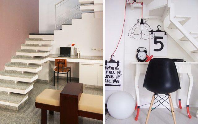 Aprovechando espacios bajo la escalera - Escritorios y zonas de trabajo