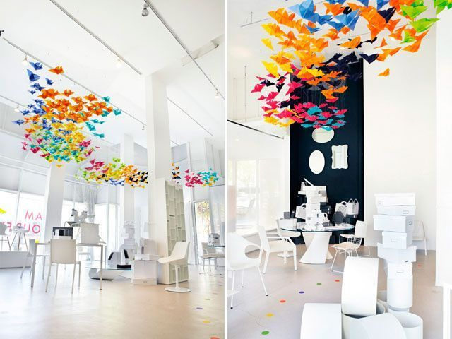 30 ideas para decorar interiores con origami - Papeles para decorar ...