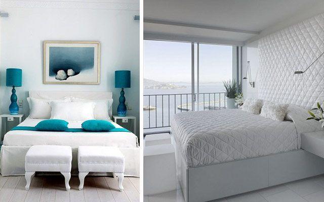 Decoración de dormitorios con doble banco a pie de cama