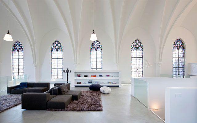 Decoración de interiores nuevos usos de antiguas iglesias
