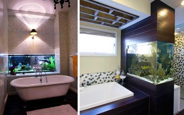 Ideas para decorar con acuarios modernos for Alicatar cocina detras muebles