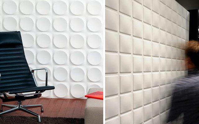 ideas para decorar con paneles y papeles pintados 3d