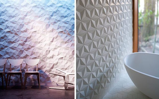 4 ideas para decorar paredes en 3d y dar volumen a tus muros - Paneles 3d para pared ...