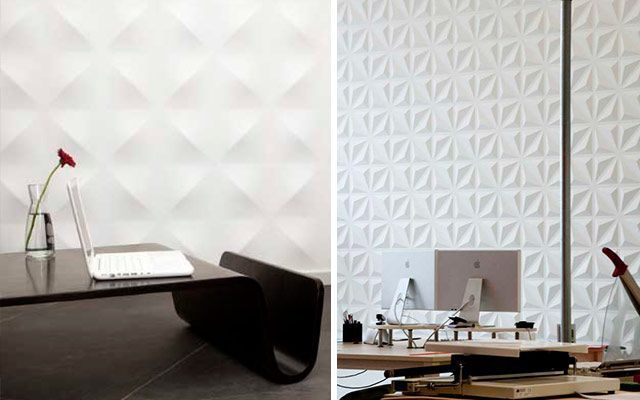 4 ideas para decorar paredes en 3d y dar volumen a tus muros - Papel pared 3d ...