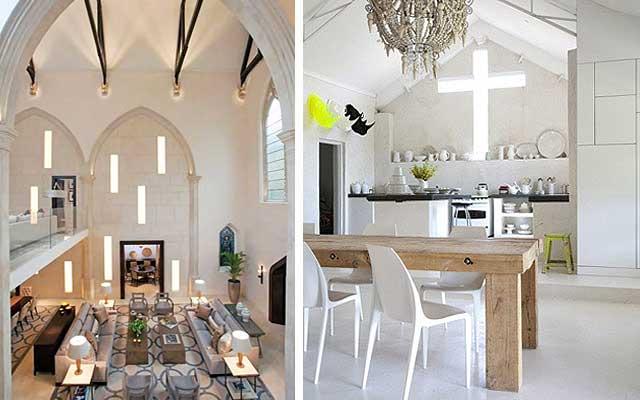 Iglesias reconvertidas en casas y viviendas