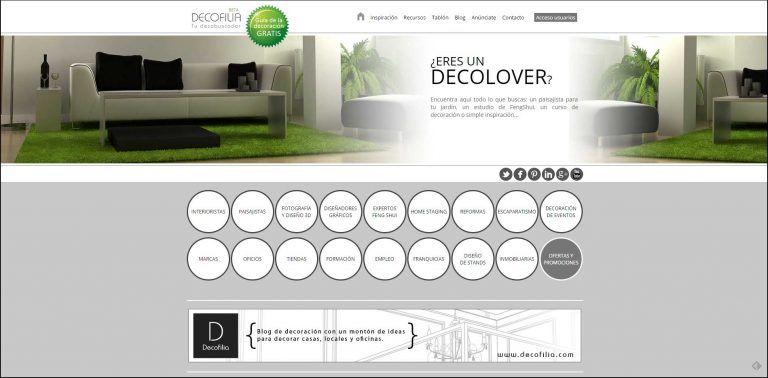 Web de Decofilia - Portal de interiorismo y decoración