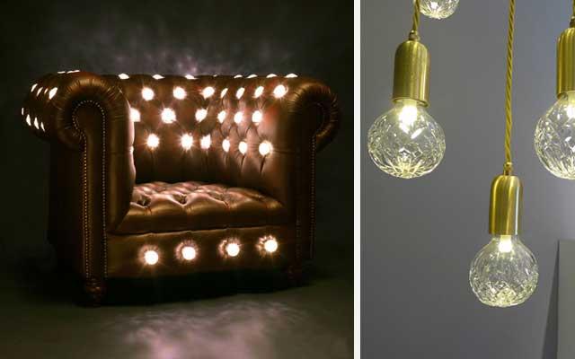 Lámparas de diseño Crystal Bulb, de Lee Broom