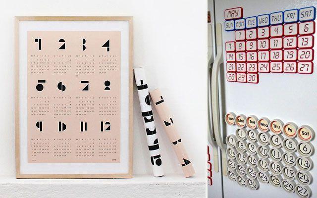 Calendarios de Año Nuevo para decorar paredes
