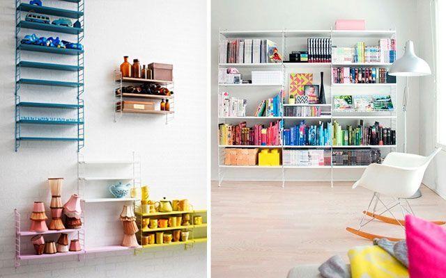 La estantería String en el diseño de interiores