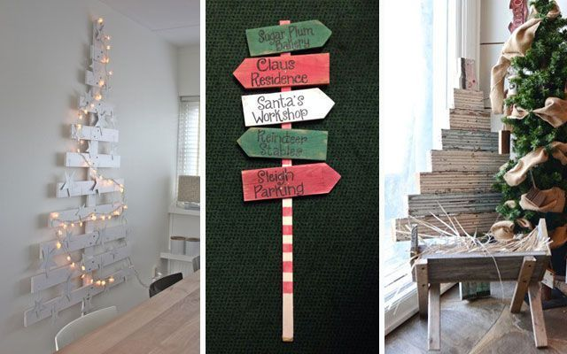 Navidad diy los pallets en la decoraci n navide a for Ideas de decoracion navidena